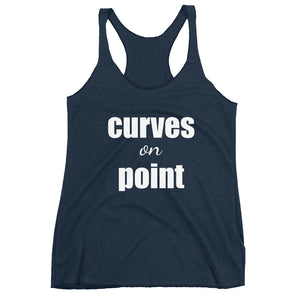 CURVES ON POINT Women's Racerback Tank (12 colors) - The Sweetest Tee