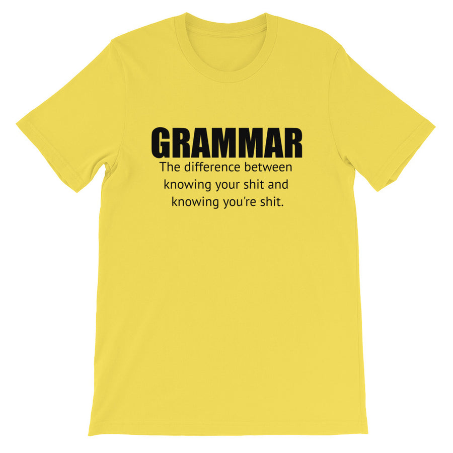 GRAMMAR... Unisex Tee (12 colors) - The Sweetest Tee