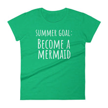 SUMMER GOAL BECOME A MERMAID Jersey Tee (7 colors) - The Sweetest Tee