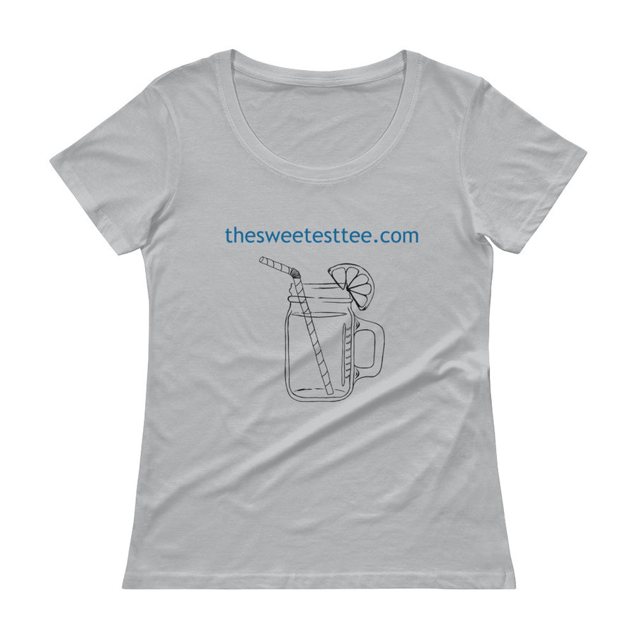 THE SWEETEST TEE Logo Ladies' Scoopneck Tee (2 colors) - The Sweetest Tee