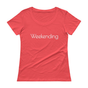WEEKENDING Ladies' Scoopneck Tee (6 colors) - The Sweetest Tee