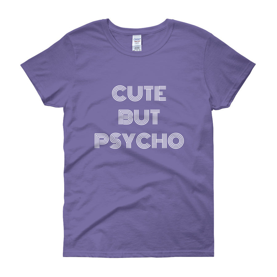 CUTE BUT PSYCHO Cotton Tee (4 colors) - The Sweetest Tee