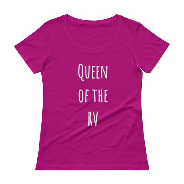 QUEEN OF THE RV Ladies' Scoopneck Tee (9 colors) - The Sweetest Tee