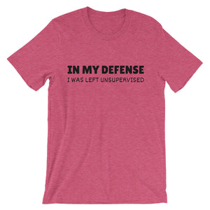 IN MY DEFENSE... Unisex Cotton Tee (8 colors) - The Sweetest Tee