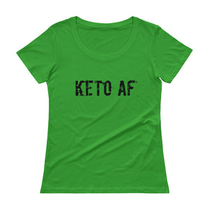 KETO AF Ladies' Scoopneck Tee (9 colors) - The Sweetest Tee