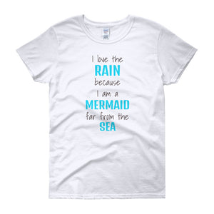 I LOVE THE RAIN... Cotton Tee (2 colors) - The Sweetest Tee