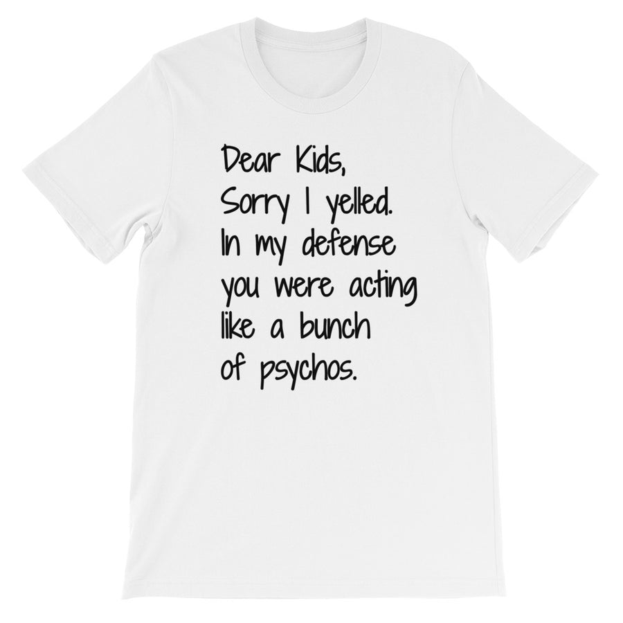 DEAR KIDS... Unisex Cotton Tee (6 colors) - The Sweetest Tee