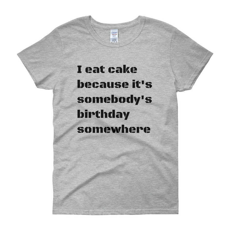 I EAT CAKE... Cotton Tee (3 colors) - The Sweetest Tee