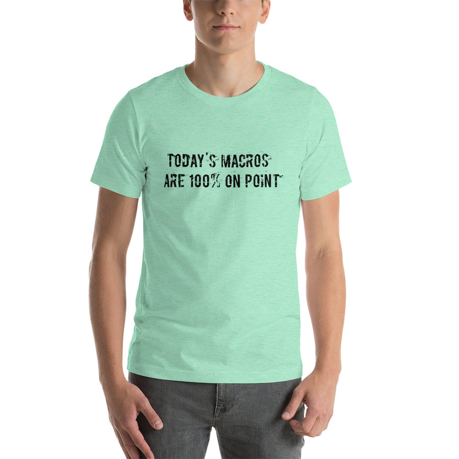 TODAYS MACROS... Unisex Tee (14 colors) - The Sweetest Tee