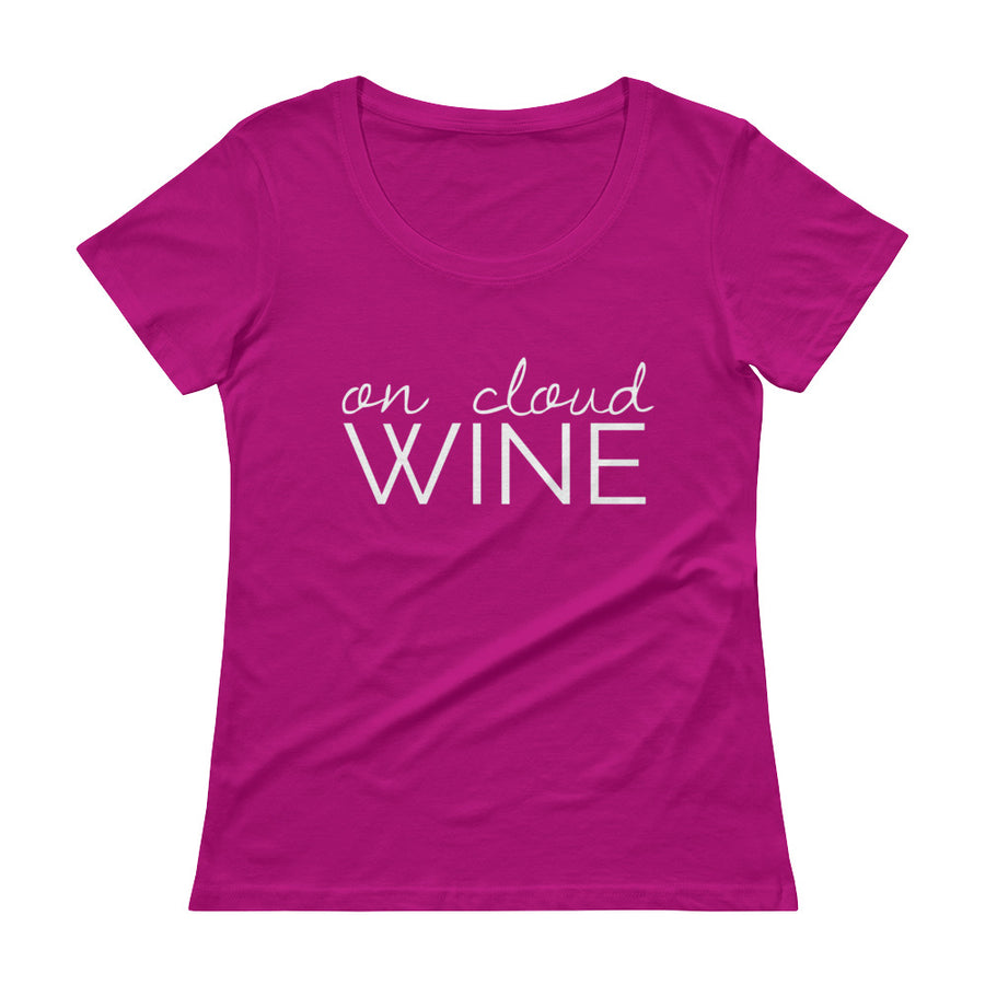 ON CLOUD WINE Ladies' Scoopneck Tee (9 colors) - The Sweetest Tee