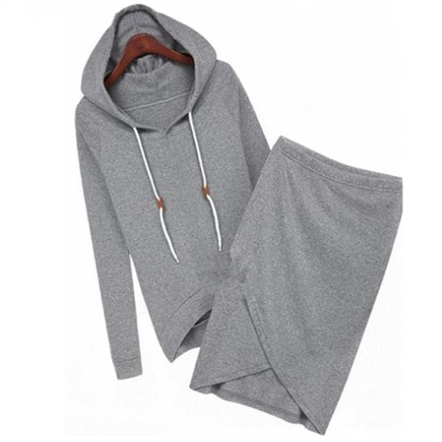 Solid Long Sleeve Hooded Set (2 colors) - The Sweetest Tee