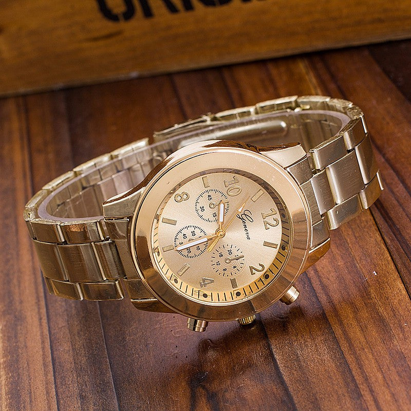 Stainless Steel Geneva Watch (3 colors) - The Sweetest Tee