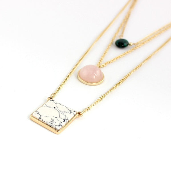 Multilayer Pendant Long Necklace - The Sweetest Tee