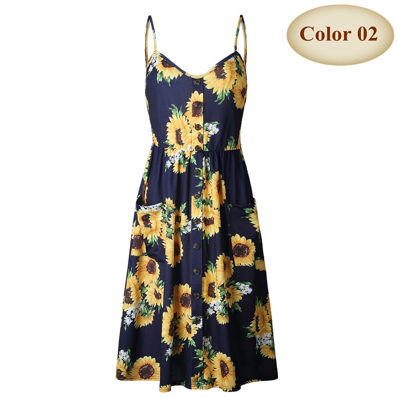 Women Summer Dress 2020 Vintage Bohemian Floral Tunic Beach Dress Female Off Shoulder Backless Holiday Strap Sundress Vestido - The Sweetest Tee
