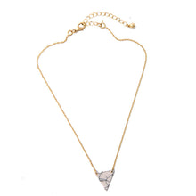 Marble Triangle Layered Pendant Necklace - The Sweetest Tee