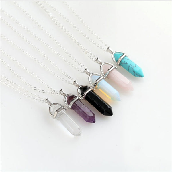 Natural Agate Stone Necklace (6 colors) - The Sweetest Tee