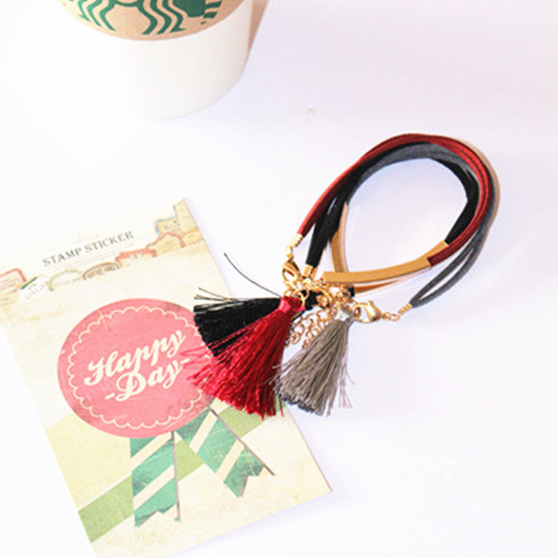 Leather Tassel Bracelet (3 colors) - The Sweetest Tee