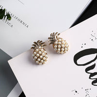 Cute Gold Pineapple Earrings - The Sweetest Tee