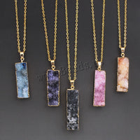 Natural Stone Pendant Necklace (5 colors) - The Sweetest Tee
