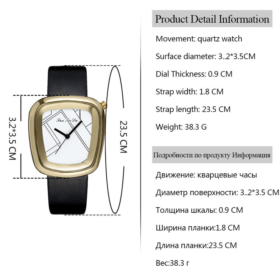 Luxury Fashion Leather Band Analog Watch (8 colors) - The Sweetest Tee