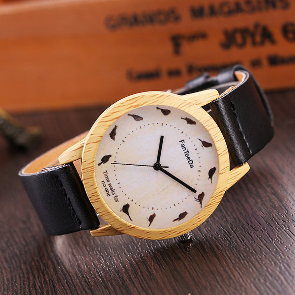Crow Fashion Leather Quartz Watch (3 colors) - The Sweetest Tee
