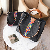 Rainbow Shoulder Strap Two Pieces Handbags