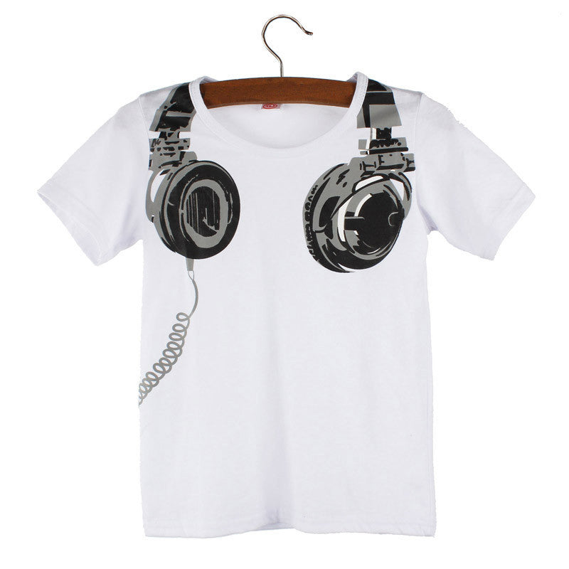 Kids Headphone Tee (3 colors) - The Sweetest Tee