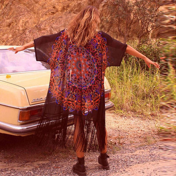 Boho Beach Coverups Coverup - The Sweetest Tee