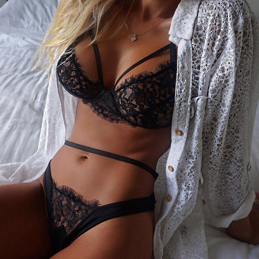 Black Lace Lingerie Set (2 colors) - The Sweetest Tee