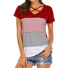 Ladies Stripe Splice T-Shirt (3 colors) - The Sweetest Tee