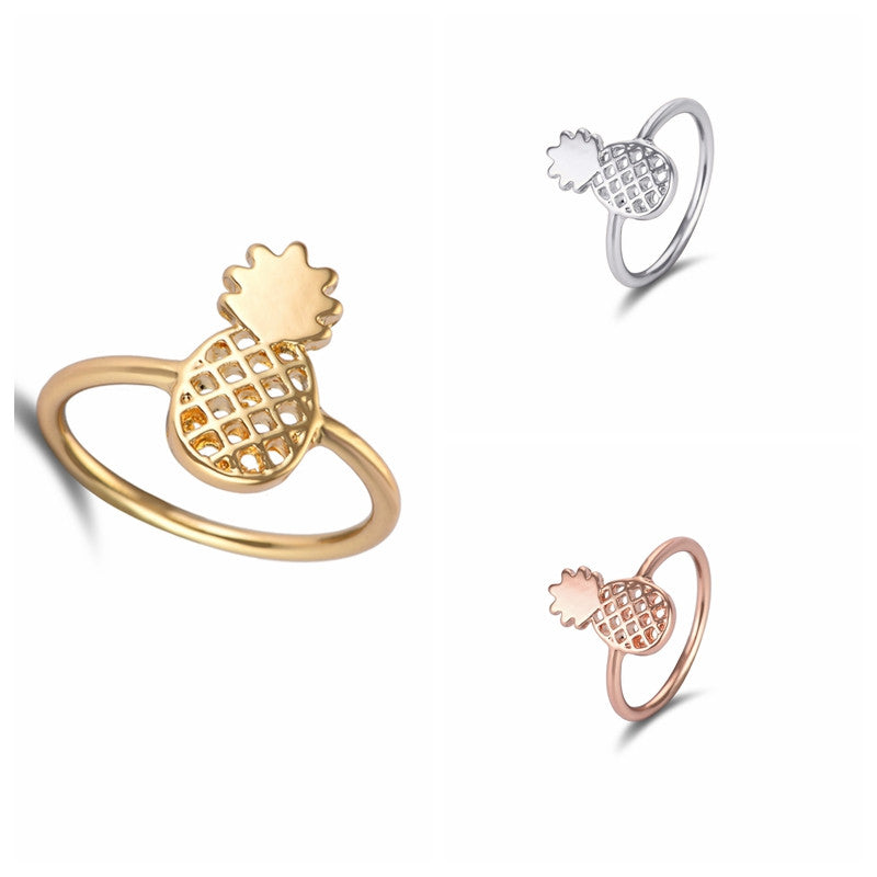Cute Pineapple Ring Size 6.5 (3 colors) - The Sweetest Tee