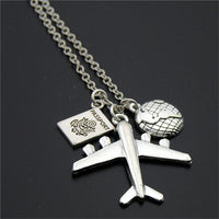 """Every Journey Starts With One Step"" Travel Necklace (5 designs) - The Sweetest Tee"
