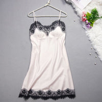 Satin Eyelash Lace Sleepwear (4 colors) - The Sweetest Tee