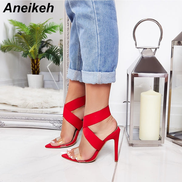 Pointed Toe Open Thin High Heels (3 colors) - The Sweetest Tee