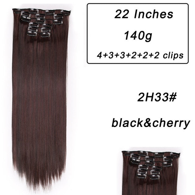 Synthetic Clips in Hair Extensions (24 colors) - The Sweetest Tee