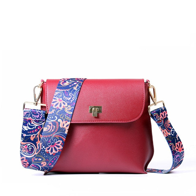 Crossbody Messenger Bag with Colorful Strap (14 strap colors/4 bag colors) - The Sweetest Tee