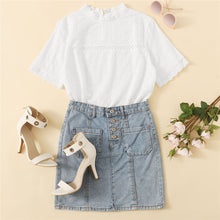 White Eyelet Embroidered Lace Top