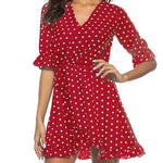 Polka Dot Wrap Dress - The Sweetest Tee