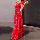 Boho Polka Dot Print Maxi Dress (4 colors) - The Sweetest Tee