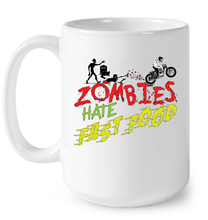"""Zombies Hate Fast Food"" White Mug"