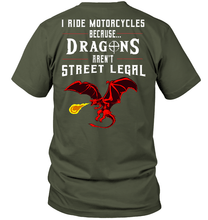 """Dragons Aren't Street Legal"" SS Tee (Front/Back Print)"