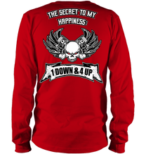 """1 Down & 4 Up"" LS Tee (Front/Back Print)"