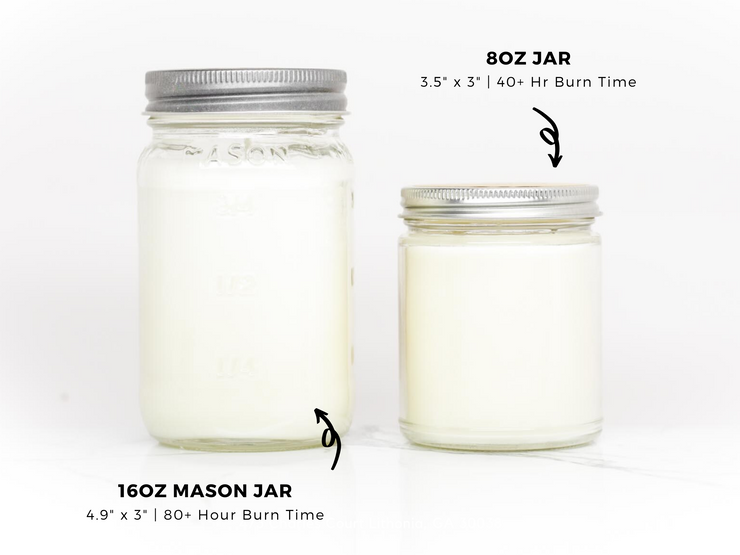 Personalized Custom Candle - 16oz Mason Jar