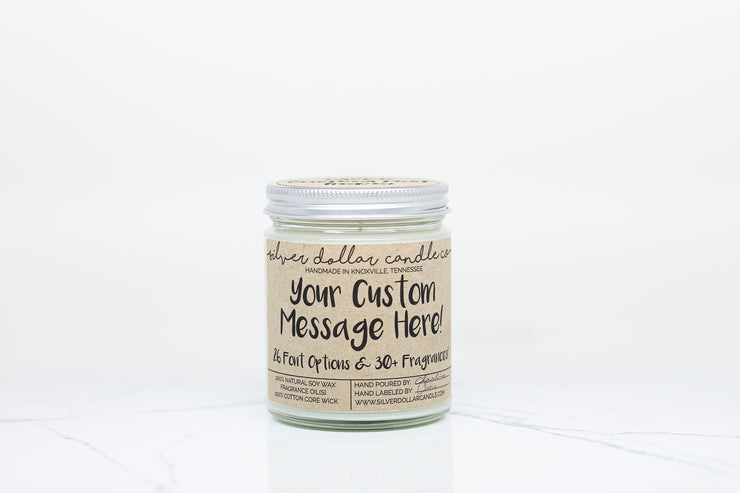 Personalized Custom Candle - Kraft