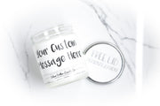 Personalized Custom Candle - White - Silver Dollar Candle Co