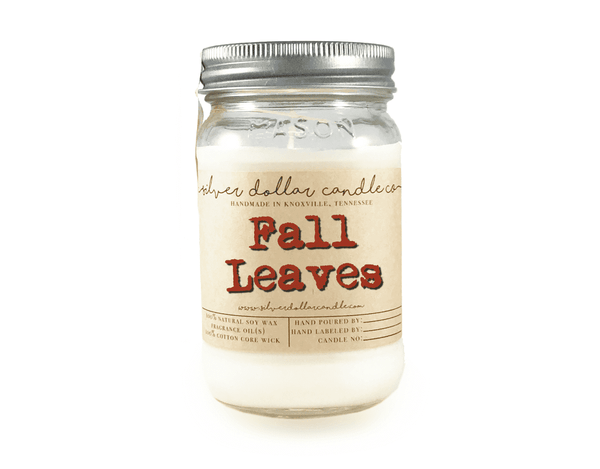 Fall Leaves - 16oz Soy Candle - Silver Dollar Candle Co