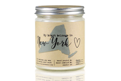 New York State Candle - 8oz - Silver Dollar Candle Co