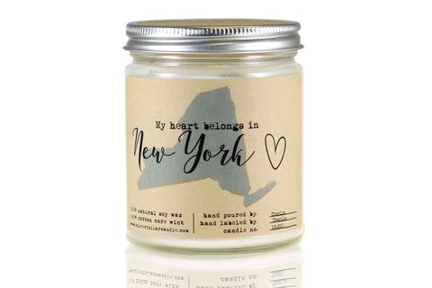 New York State Candle - 8oz Soy Candle - Silver Dollar Candle Co