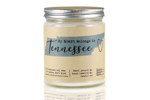 Tennessee State Candle - 8oz Soy Candle - Silver Dollar Candle Co