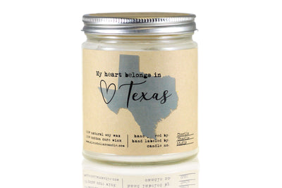 Texas State Candle - 8oz - Silver Dollar Candle Co